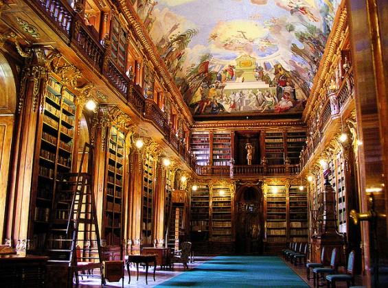 کتابخانه Strahov Monastery چک
