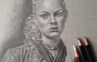 نقاشیهای زیبا با مداد سیاه از Monica Lee