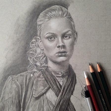 نقاشی مداد سیاه