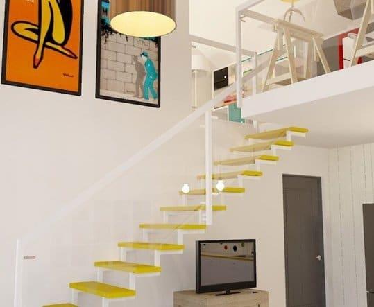 راه پله زرد