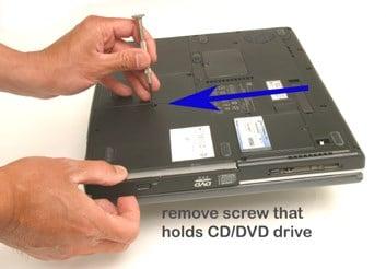 باز کردن سی دی درایو لپ تاپ