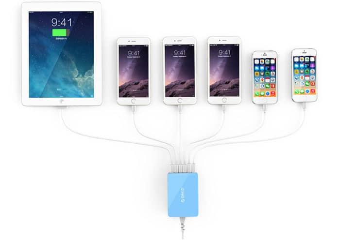 یک شارژر چند گوشی و تبلت