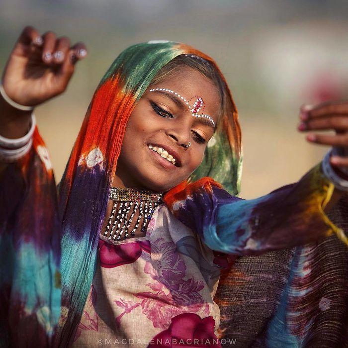 دختر بچه هندی