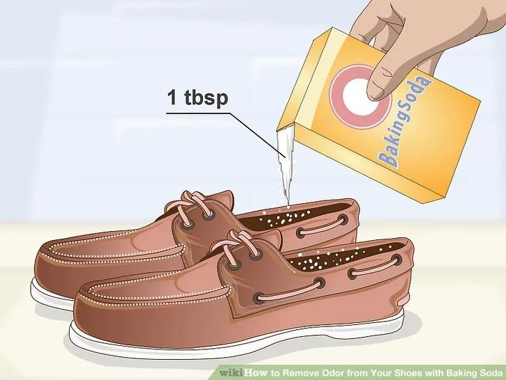 استفاده جوش شیرین در کفش