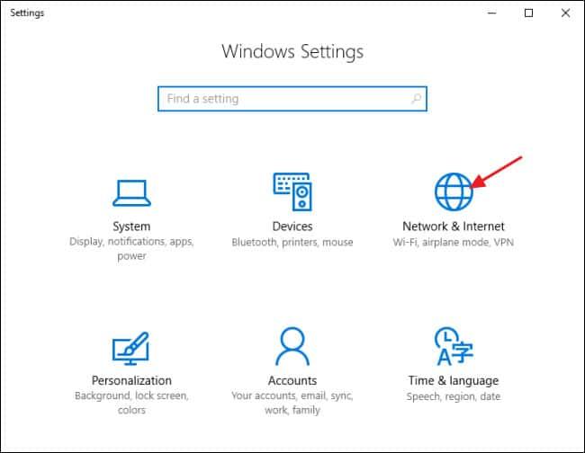تنظیمات هات اسپات ویندوز 10