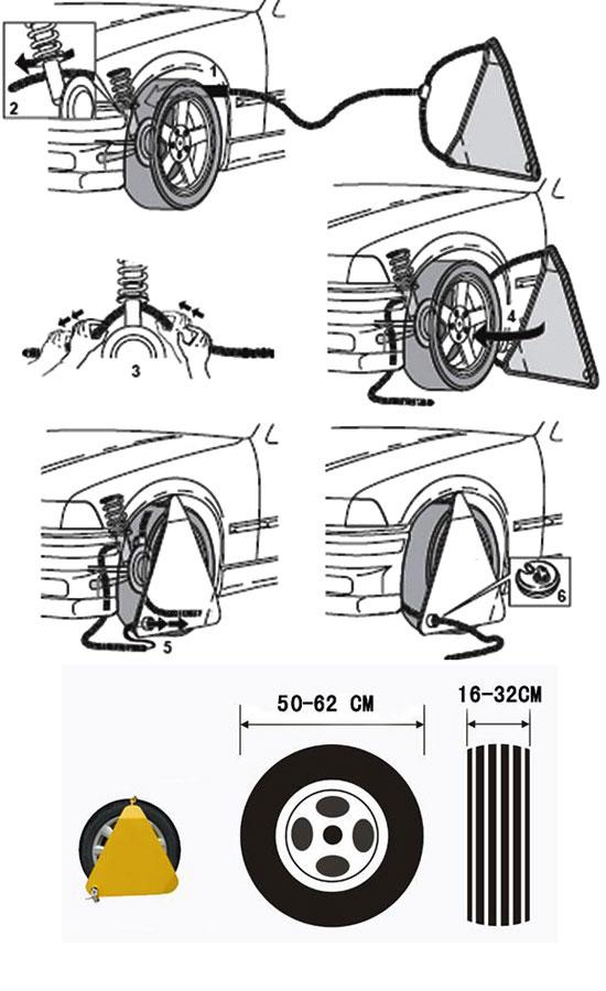 نصب قفل رینگ چرخ خودرو
