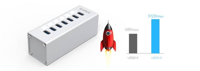 هاب USB 3.0 پرسرعت