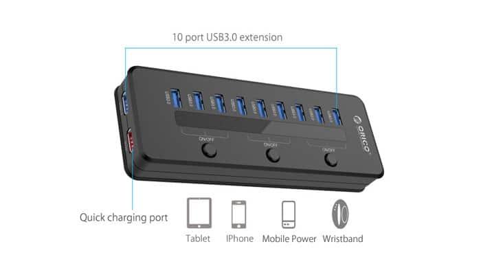 هاب USB 3.0 H10C1-U3